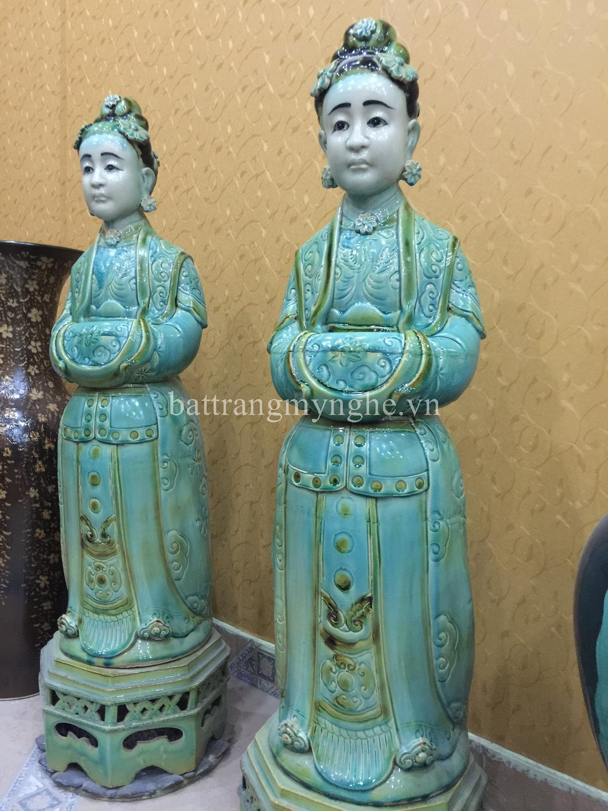 Đôi tượng nữ quý tộc thời Lê