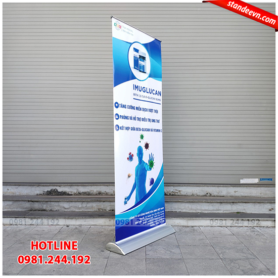 standee cuốn đế to