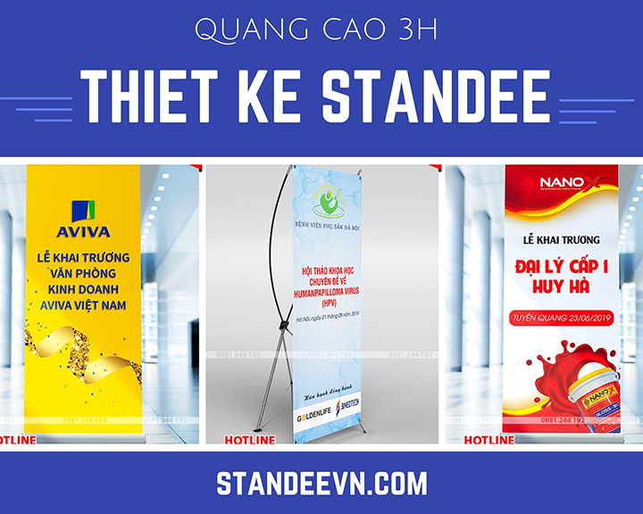 Standee thiết kế