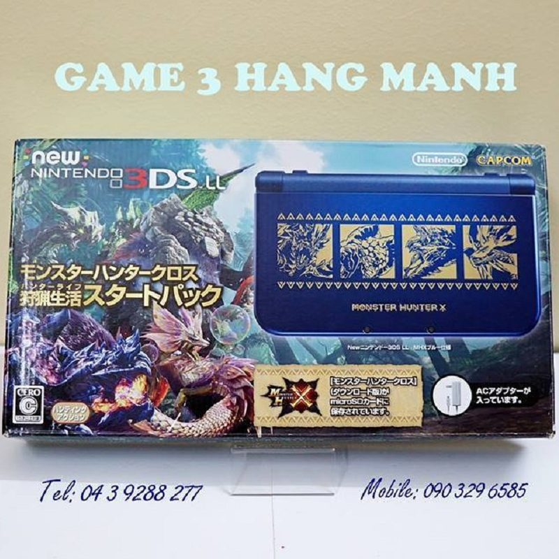 New 3DS LL- Monster Hunter X đã hack ( 2nd hand )