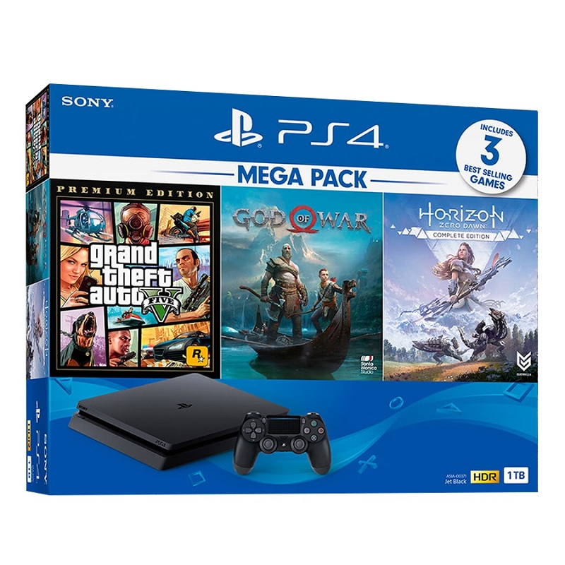PS 4 Slim 1T Mega Pack 2- SONY VN, 3 games