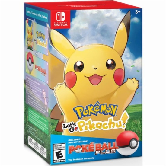 POKÉMON: LET'S GO PIKACHU! + POKE BALL PLUS PACK--HẾT HÀNG