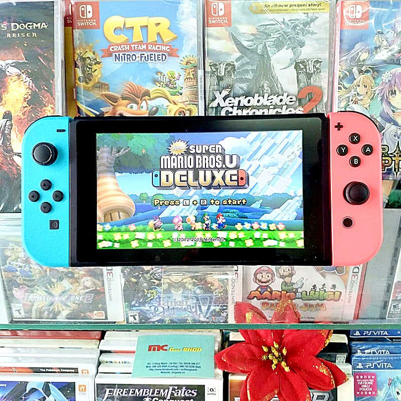 Switch with Blue Red Joy‑Con đã hack, thẻ 128gb---HẾT HÀNG