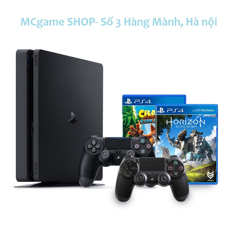 PS4 Slim 500GB, Horizon Zezo Dawn+Crash Bandicoot N. Sane Trilogy--HẾT HÀNG
