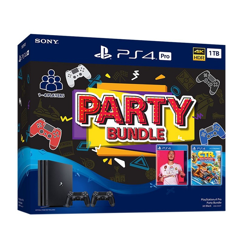 PS4 Pro 1TB Party bundle 2 game, 2 tay cầm-SONY VN