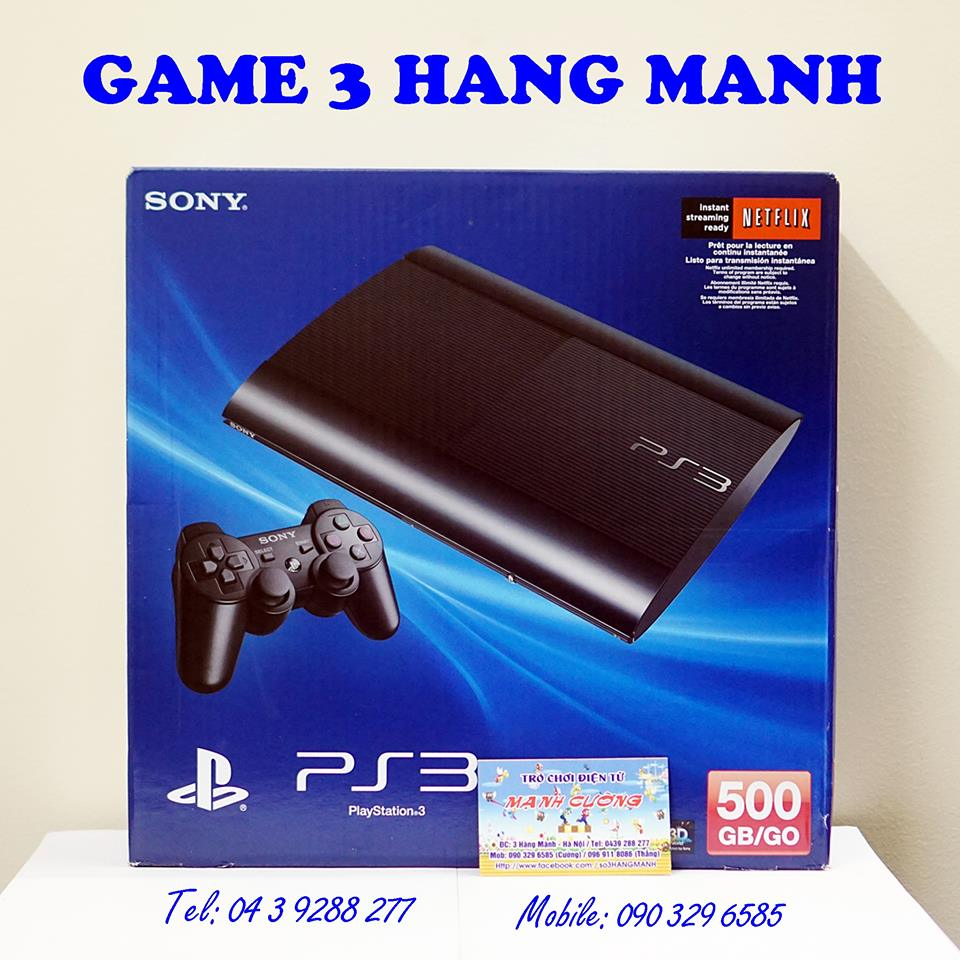 PlayStation 3 (PS3) Super Slim 500 GB--HẾT HÀNG