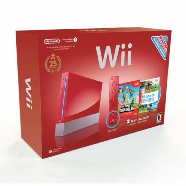 Red Wii  Mario 25th Anniversary--HẾT HÀNG.