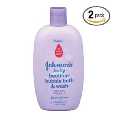Gohnson's baby bedtime bubble bath & wash