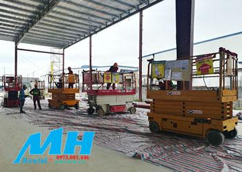MH cho thuê xe nâng người ở Thái Nguyên