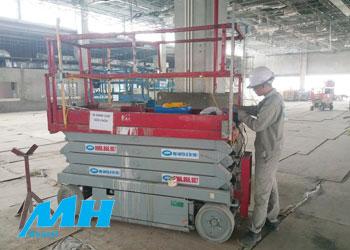 xe nâng người MH thi công tại nhà máy Meiko Việt Nam, KCN Thạch Thất
