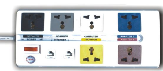 Ổ cắm điện chống sét thông tin 6DN