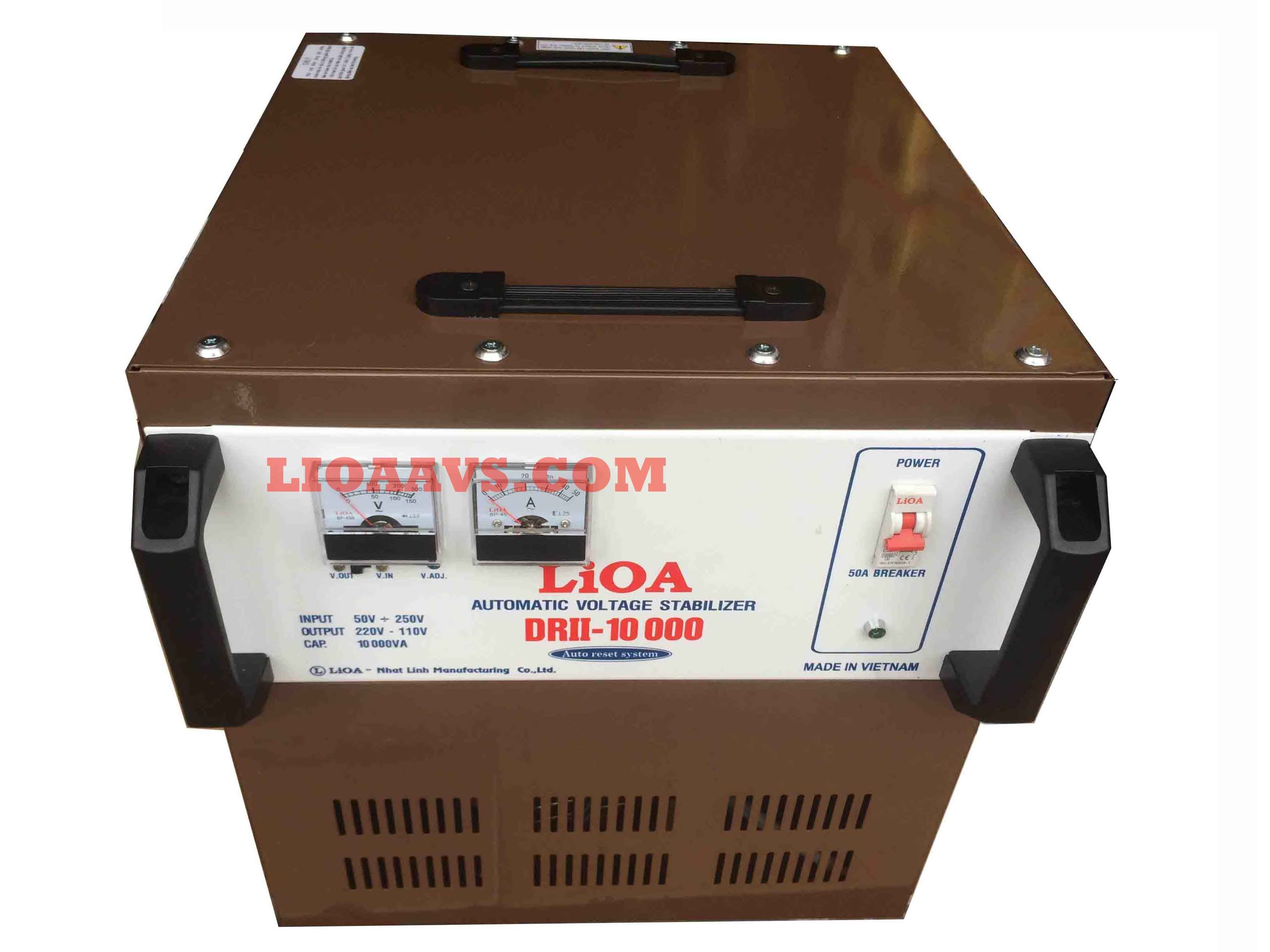 Ổn áp lioa 10kva có 3 dải điện áp