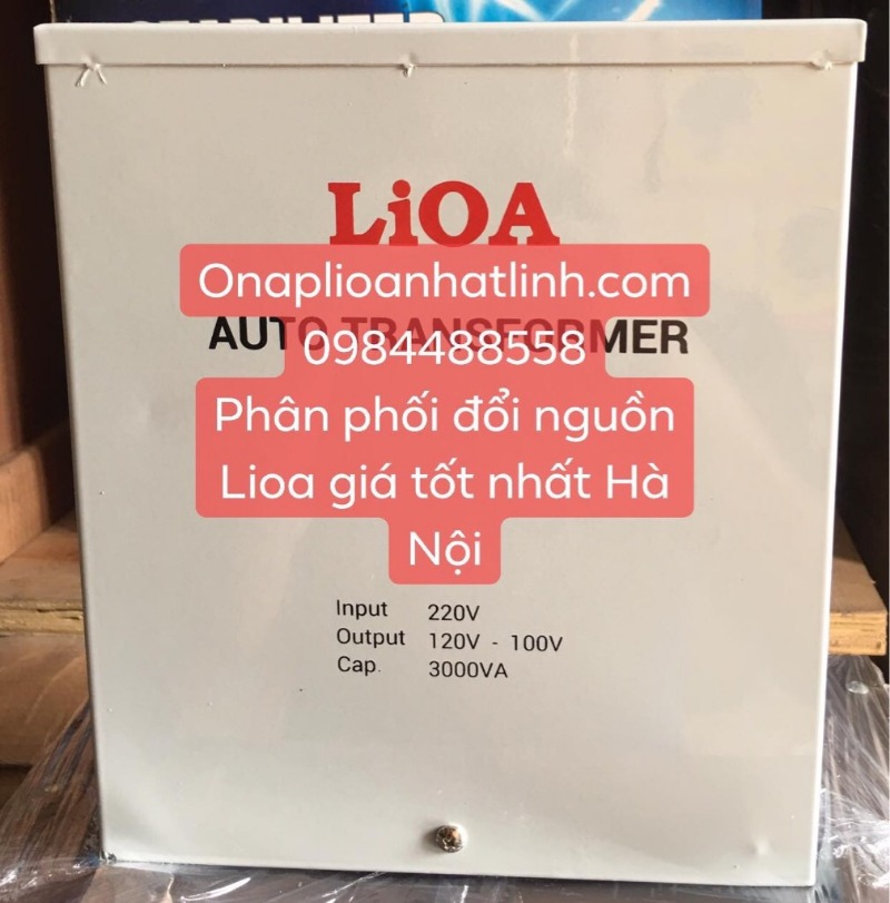 Biến áp đổi nguồn hạ áp LiOA 3000va