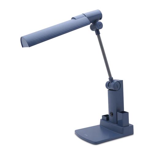 Đèn bàn đọc sách loại khớp quay có hộp bút ghim LiOA LIDG27BL 27W (Xanh jean)