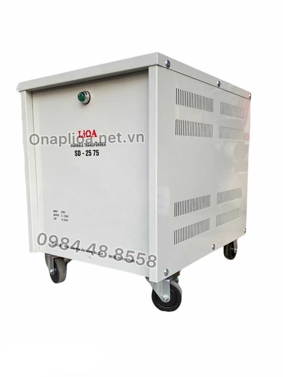 Biến áp vô cấp 1 pha SD-2575 LIOA