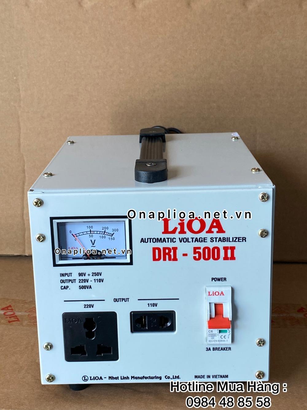 ổn áp lioa DRI-500II