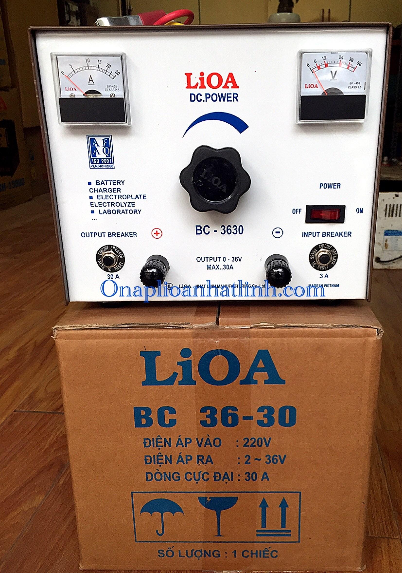 Nạp ắc quy LIOA BC 3630