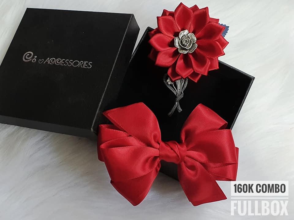 Set cài áo và cặp tóc quà tặng handmade dễ thương