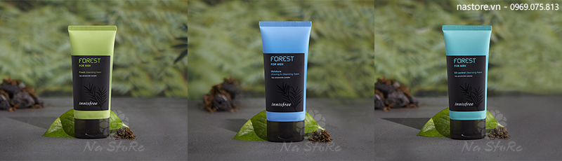 Trọn bộ sữa rửa mặt dành cho nam Innisfree Forest For Men