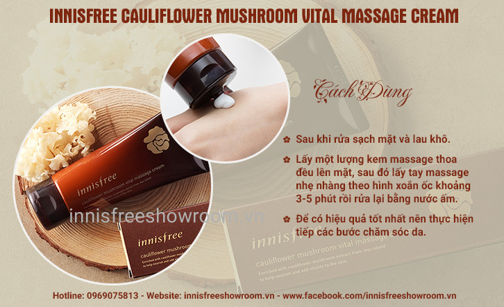 innisfree cauliflower mushroom vital massage cream 2