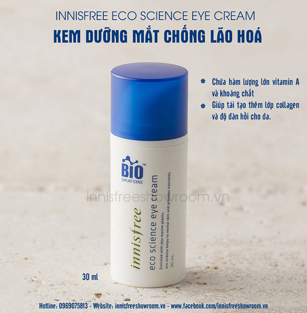 kem duong mat chong lao hoa innisfree eco science eye cream