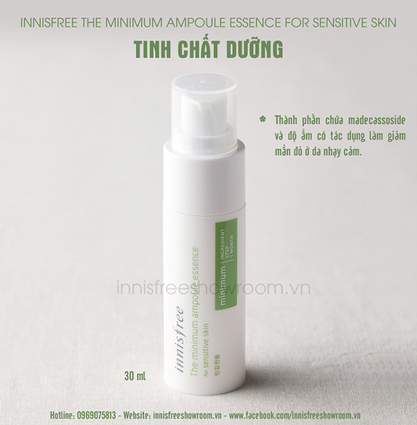 innisfree the minimum ampoule essence for sensitive skin 3