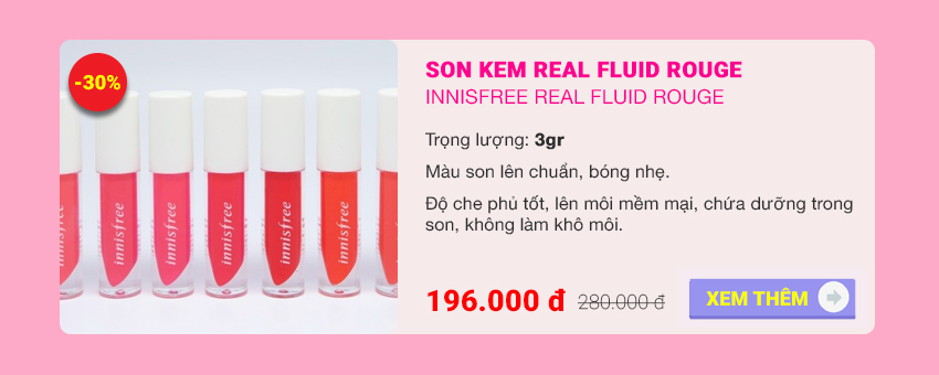 son innisfree real fluid rouge