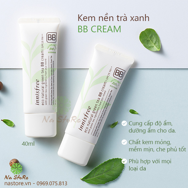 Kem nền trà xanh Innissfree Eco Natural Green Tea BB Cream