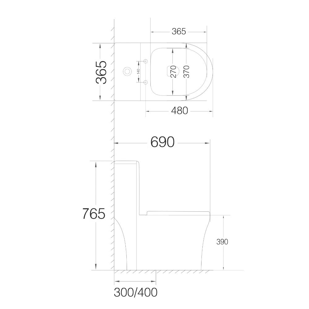 Bàn cầu liền khối VT-2085