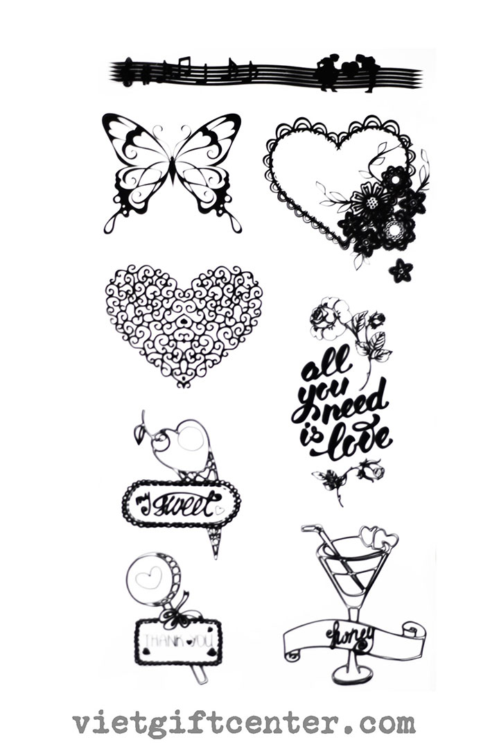 Clear Stamp All You Need is Love