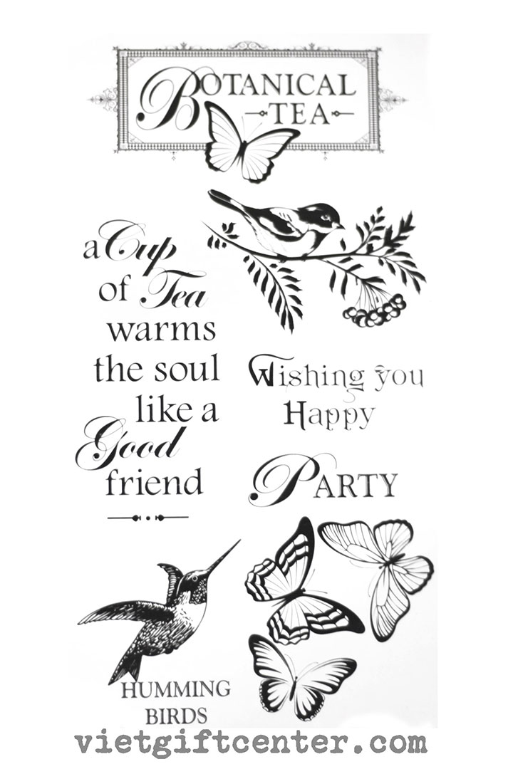 Clear stamp Botanical