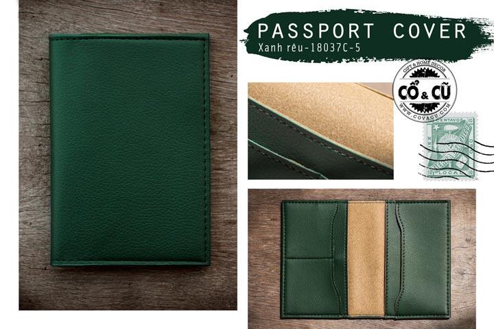 tui dung passport xanh reu