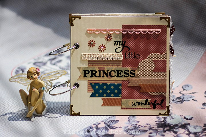 1. Album handmade bé gái My little PRINCESS