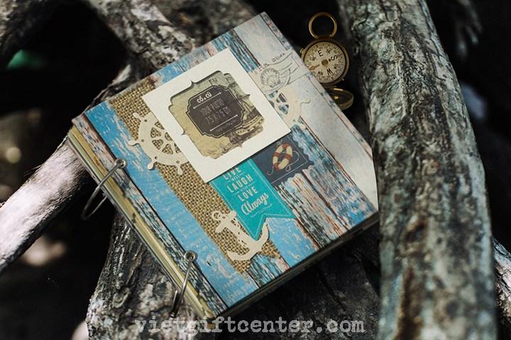 Scrapbook handmade Blue Pastel
