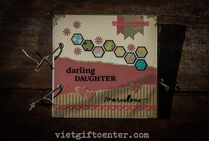 2. Scrapbook handmade Darling Daughter