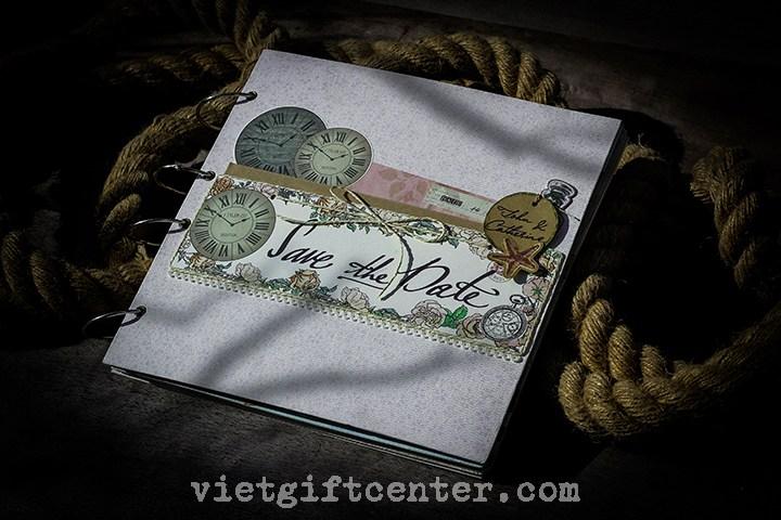 Guest book - sổ kí tên cưới handmade