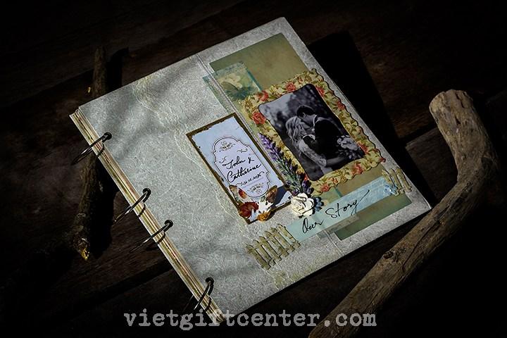 sổ ký tên handmade cho đám cưới