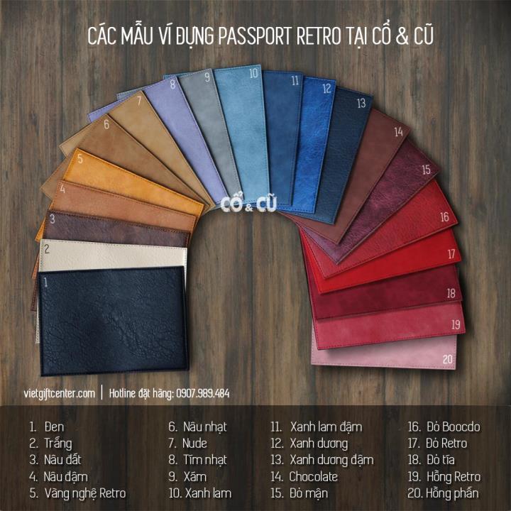 Bảng mẫu màu passport covers