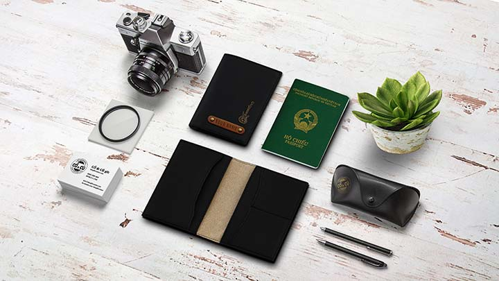 passport cover mau den
