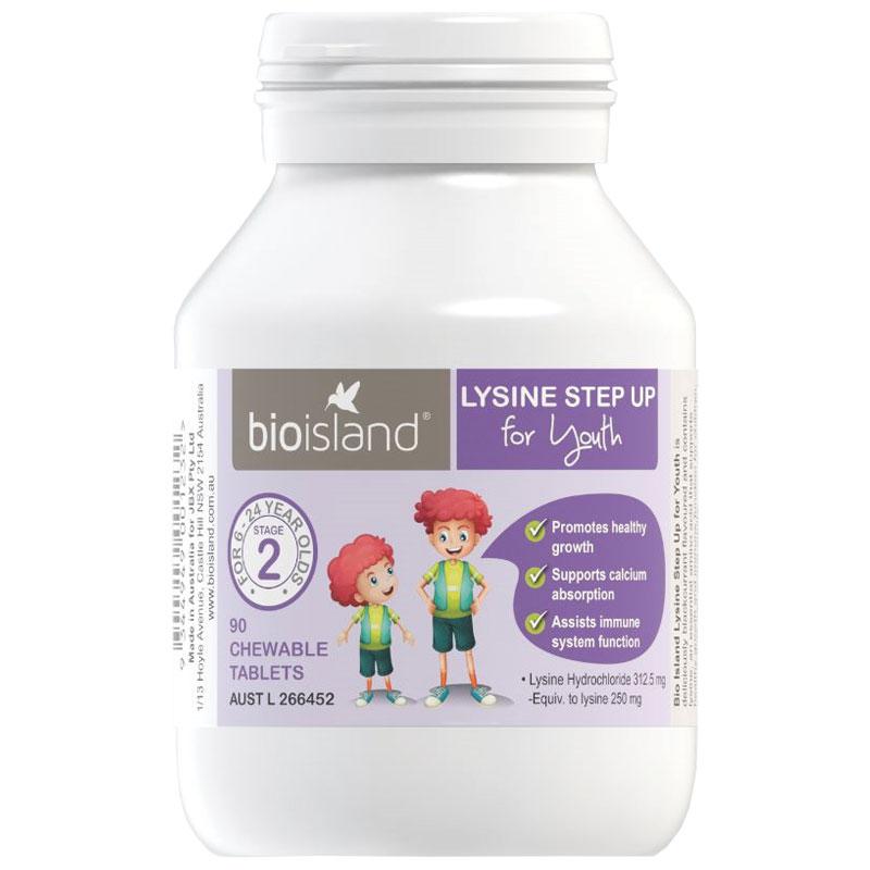 Viên tăng chiều cao & miễn dịch Lysine Bio Island (90 viên) (6-24 ...