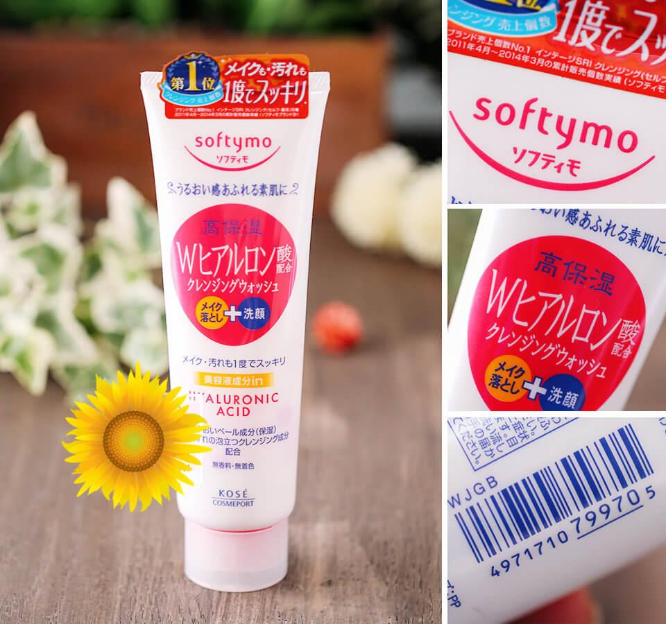 Kết quả hình ảnh cho Sữa rửa mặt Kose Softymo Hyaluronic