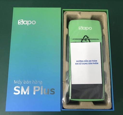 ảnh thực tế máy bán hàng cầm tay Sapo SM Plus chính hãng