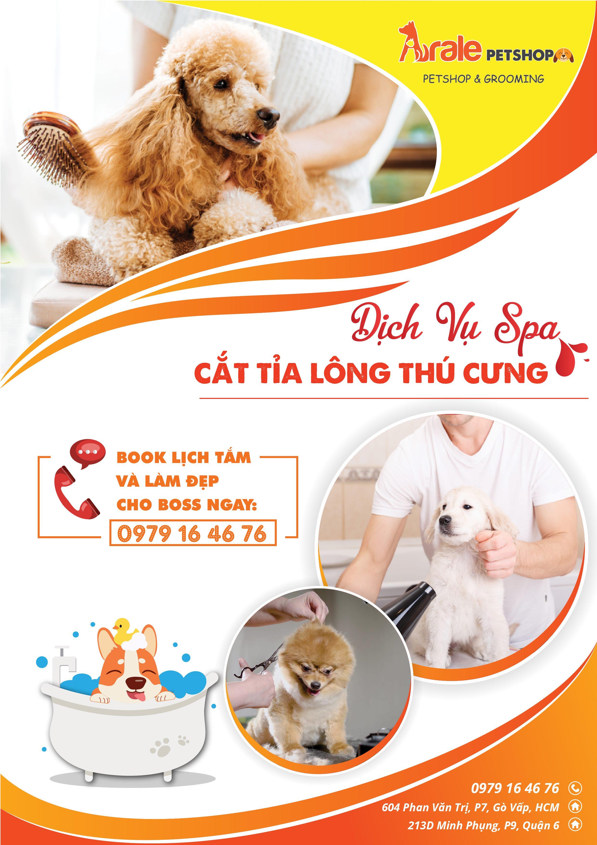 Nơi đáng tin cậy để các Ba Mẹ có thể gửi gắm thành viên đặc biệt của mình cho ARALE PET GROOMING cắt tỉa lông, vệ sinh tai, chân,...cho các bé.