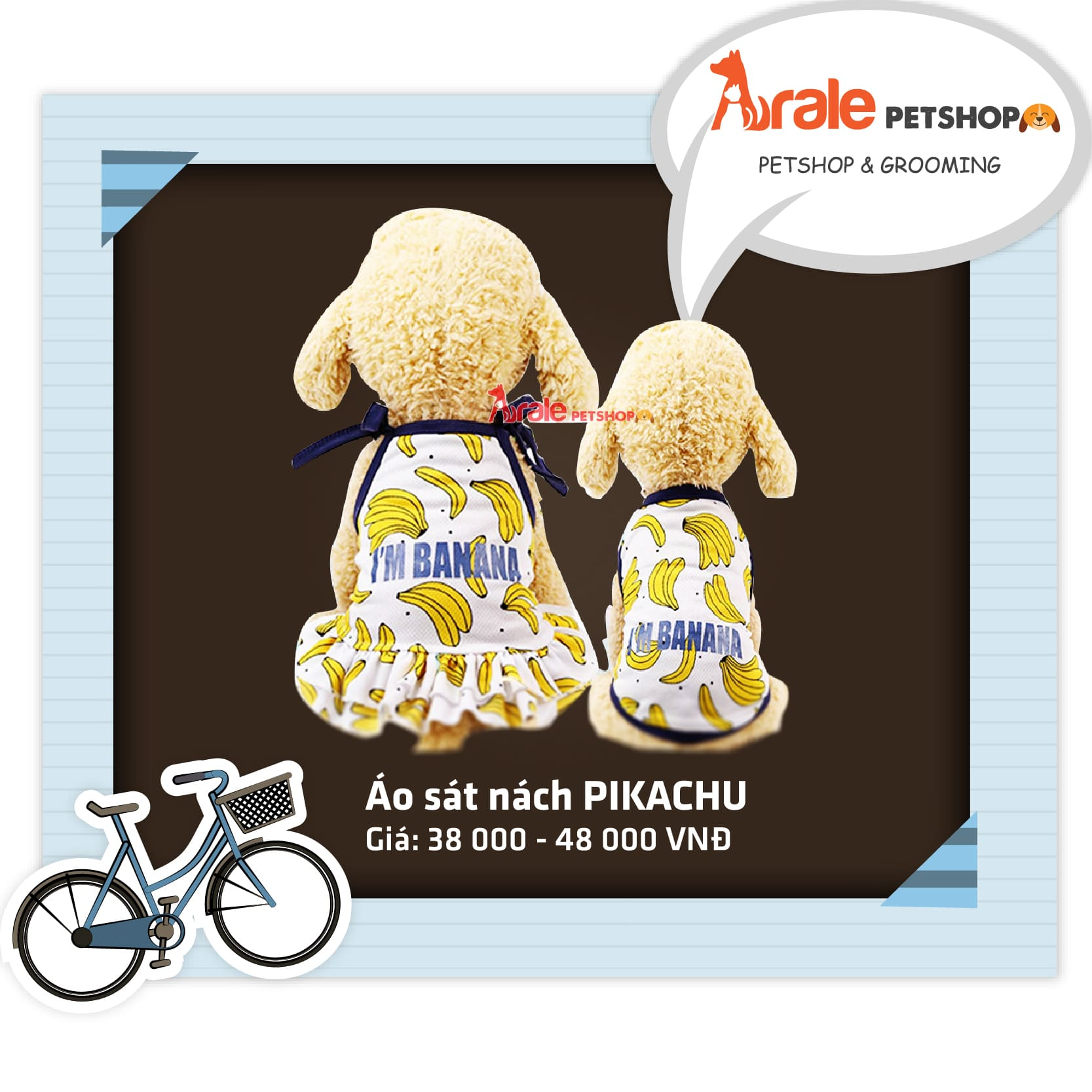 Chào hè rộn ràng cùng BỘ SƯU TẬP ÁO THUN HÈ của Arale Petshop, với nhiều hình cute, nhiều size để bạn có thể lựa chọn cho bé cún nhà mình