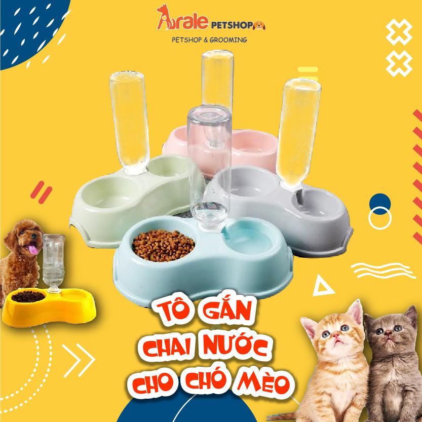 TÔ GẮN CHAI NƯỚC CHO CHÓ MÈO tiết kiệm thời gian cho Sen, không chiếm diện tích nhà, đặc biệt không sợ các bé chó, mèo chạy đùa làm đổ nước uống.