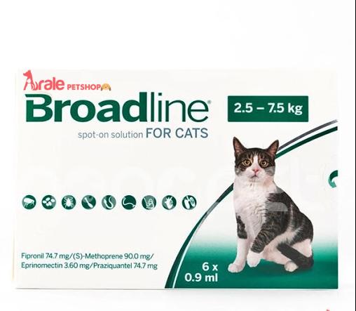 Nhỏ Gáy Broadline Phòng & Trị Nội Ngoại Ký Sinh Cho Mèo là thuốc phòng và trị nội ngoại kí sinh trùng như ve, rận, ghẻ, giun sán... dạng nhỏ gáy của Merial, Pháp.