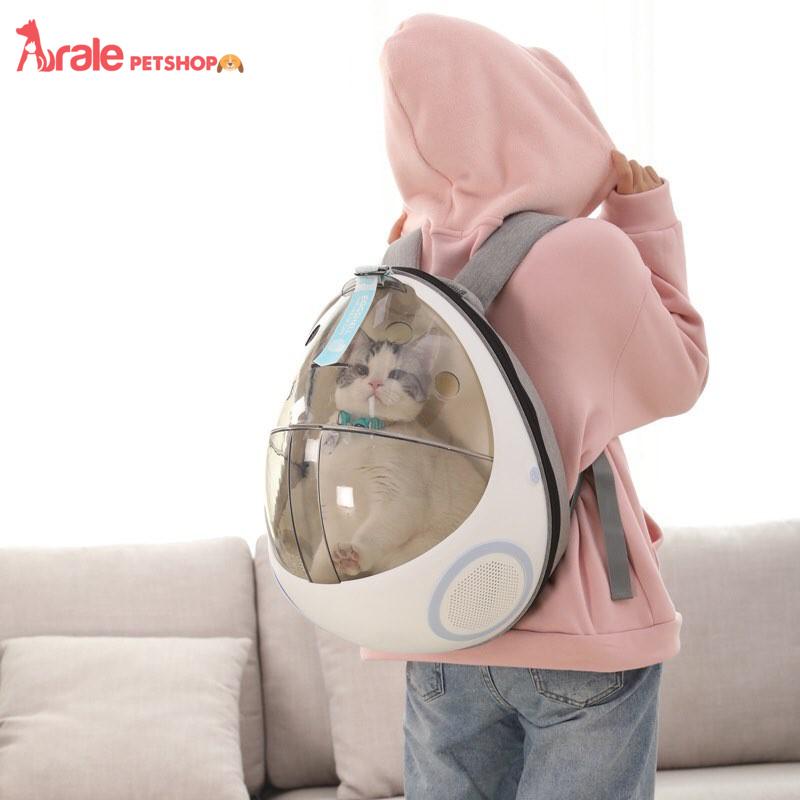 balo sọ dừa vận chuyển chó mèo, an toàn, tiện lợi với thiết kế sang chảnh, gọn nhẹ