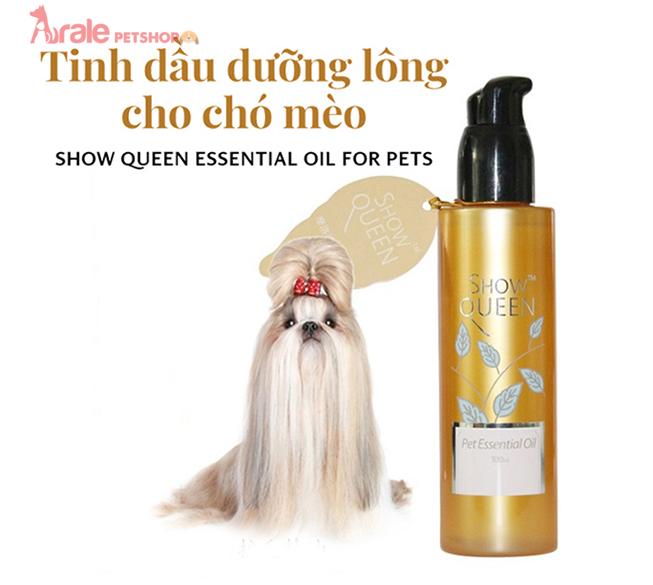 tinh dầu dưỡng lông chó, mèo giúp lông bóng mượt, khử mùi hôi cơ thể chó mèo