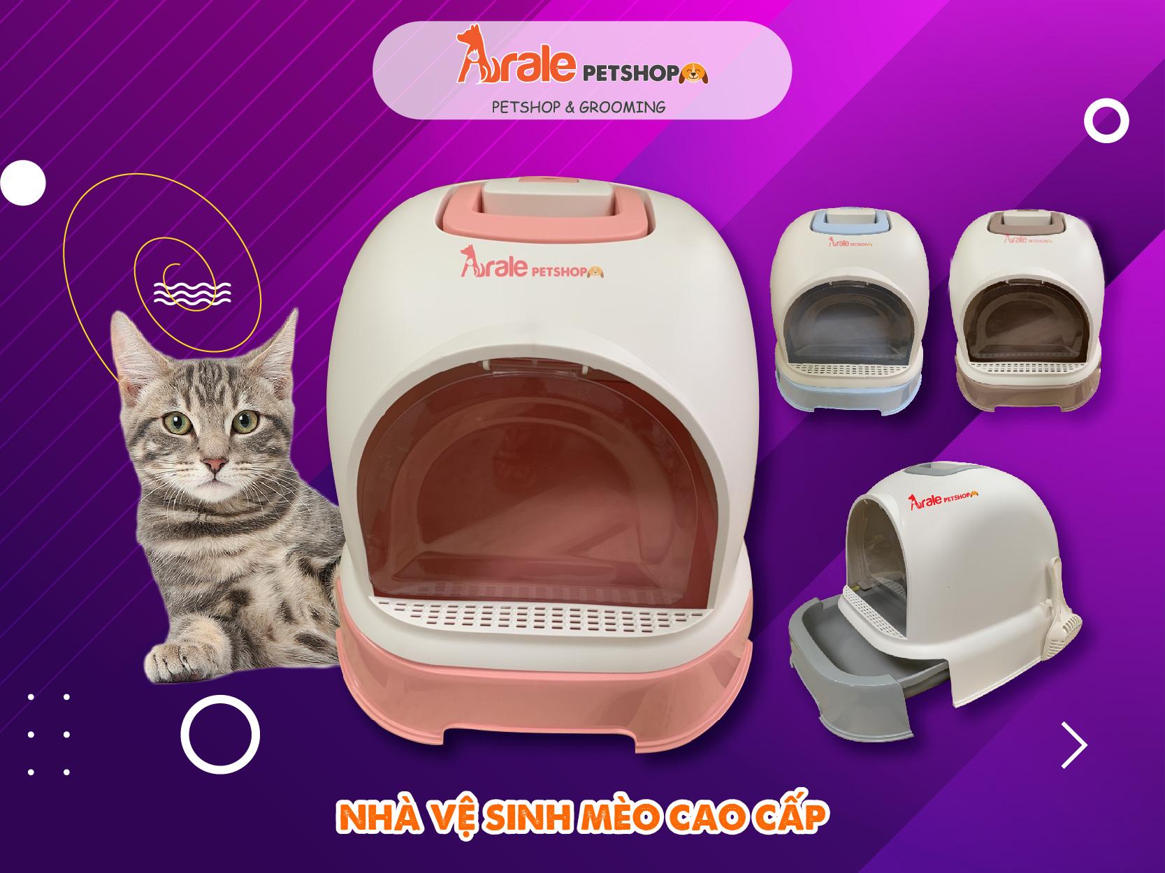 nhà vệ sinh cho mèo, khử mùi tốt, dễ dàng vệ sinh, không gây ô nhiễm