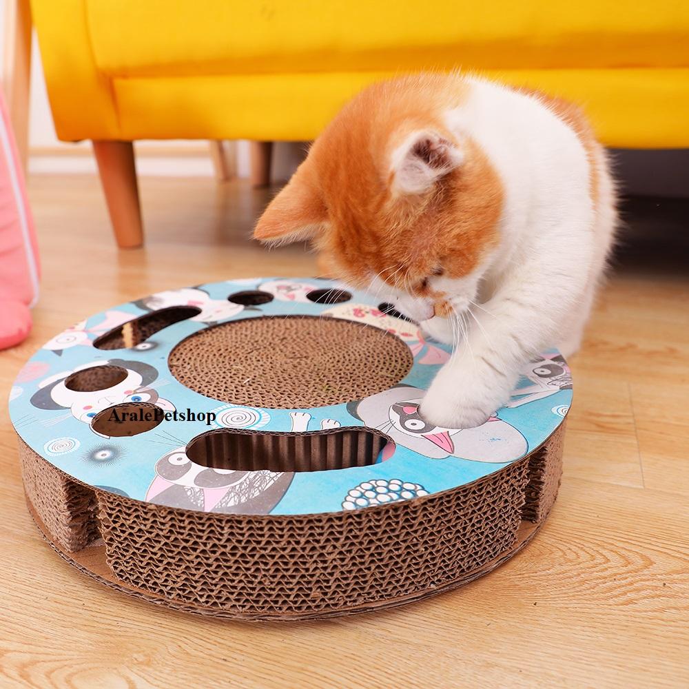 Bàn cào móng cho mèo là loại rẻ nhất, được đặt trên sàn hoặc treo trên tay nắm cửa. Bàn có dạng mỏng dài, hình chữ nhật hoặc hình tròn, hoặc được cắt thành hình ngộ nghĩnh (như chuột, cá, thỏ, vv…). Những bàn cào dẹt thường được gia công thành dạng nghiên